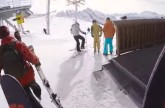 Pro Skier Performs Stunning Run Down French Mountains
