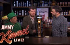 Jimmy Kimmel And Guillermo Pour The Perfect Pint of Guinness