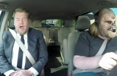 Chewbacca Mom Goes For A Ride With James Corden