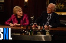 Hillary And Bernie Reminisce Campaigns At A Bar