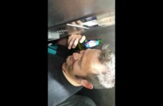 German Guys Can't Stop Laughing In Smallest Elevator Ever