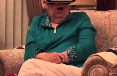 Grandma Freaks Out Trying Virtual Reality