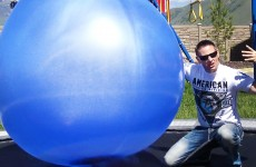 Filling Giant Balloons With Liquid Nitrogen