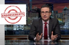 John Oliver On Endorsements