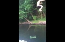 Rope Swing Idiot Crashes Into A Boat