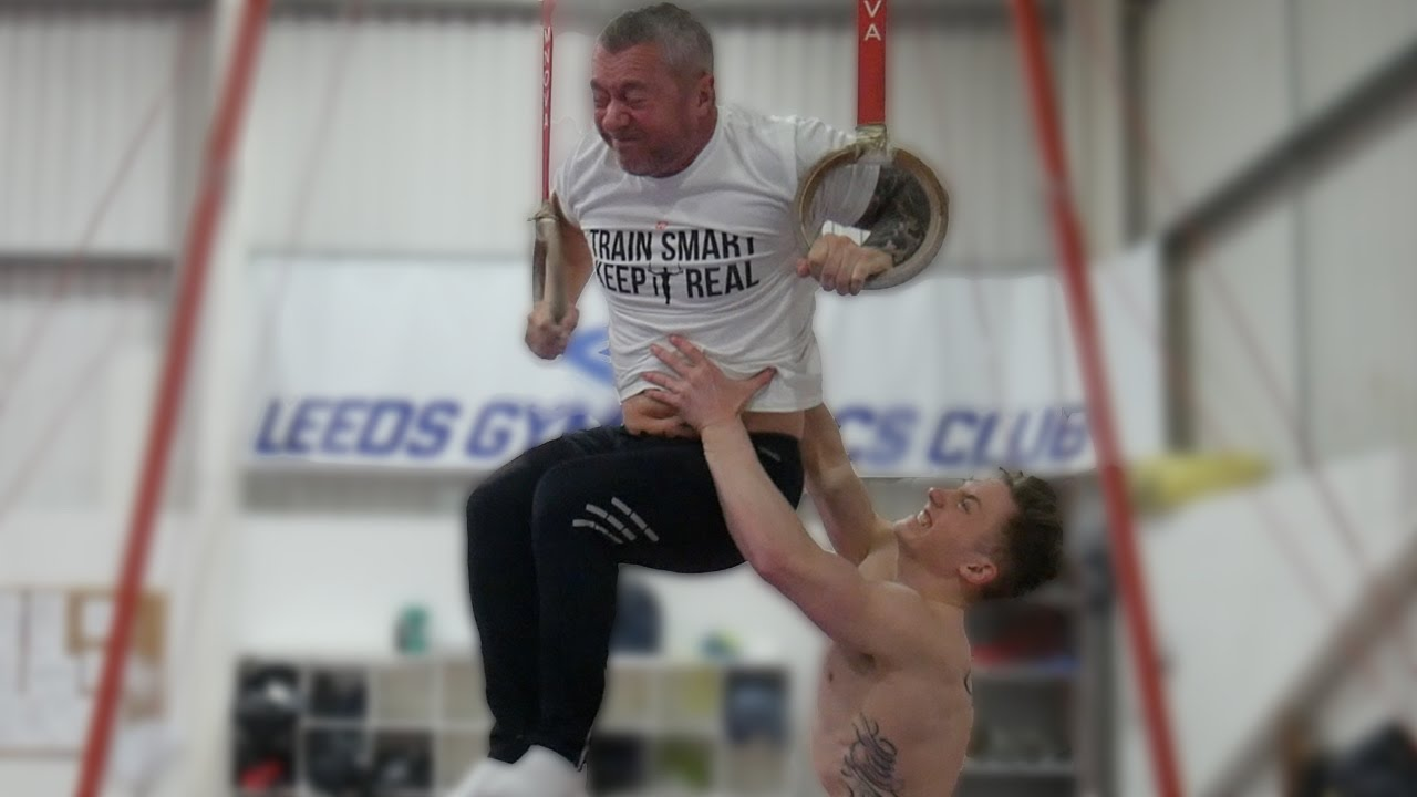 Son Challenges His Father To A Gymnastics Competition