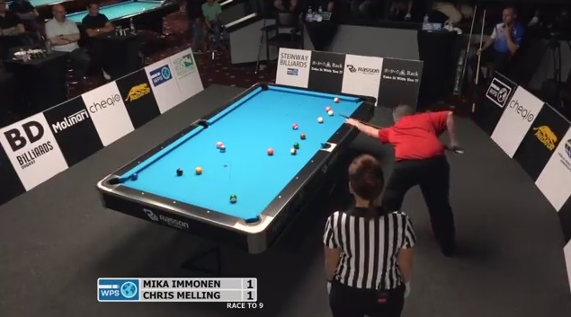 Chris Melling Has An Unbelievable Run of Pool Shots