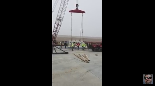 Construction Workers Have a Close Call With a Crane