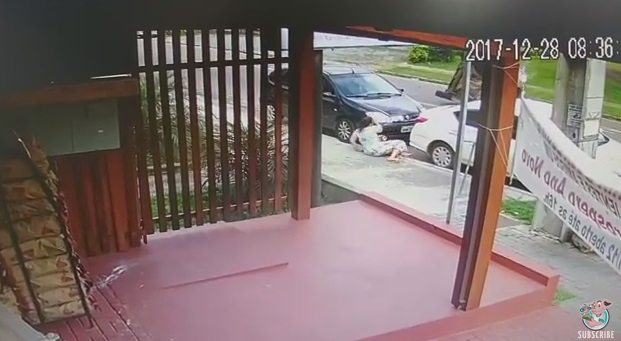 Woman Nearly Crushed By Car