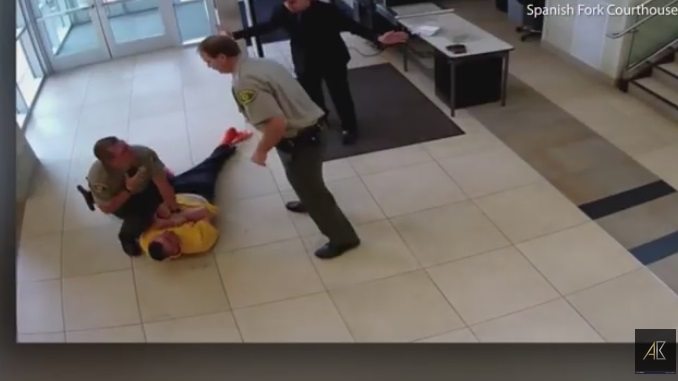 Handcuffed Man Plummets From Balcony After Running From Courtroom