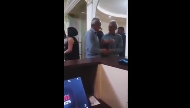 Drunk Guy Tries To Fight His Own Reflection