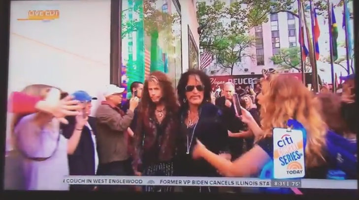 Steven Tyler Shoves Douche Bag Out of the Way