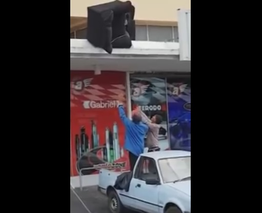 Rooftop Sofa Move Ends With a Hilarious Disaster