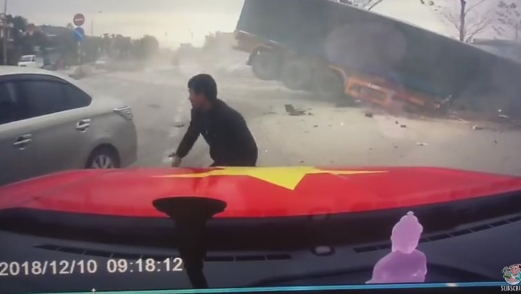 Woman Barely Saves Child From Out of Control Truck!