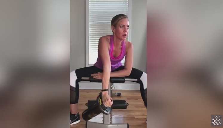 Woman Demonstrates Hilarious 'Wine Workout'