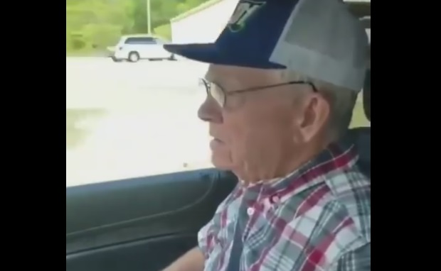 Funny Old Man Spots a Nice B@@ty From the Car