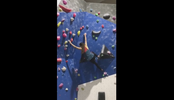 Girl Free Climbing Rock Wall Fails Painfully