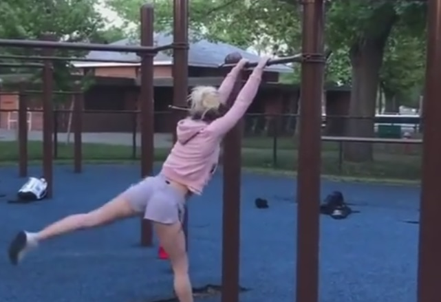 Girl Showing Off In The Park Goes Wrong