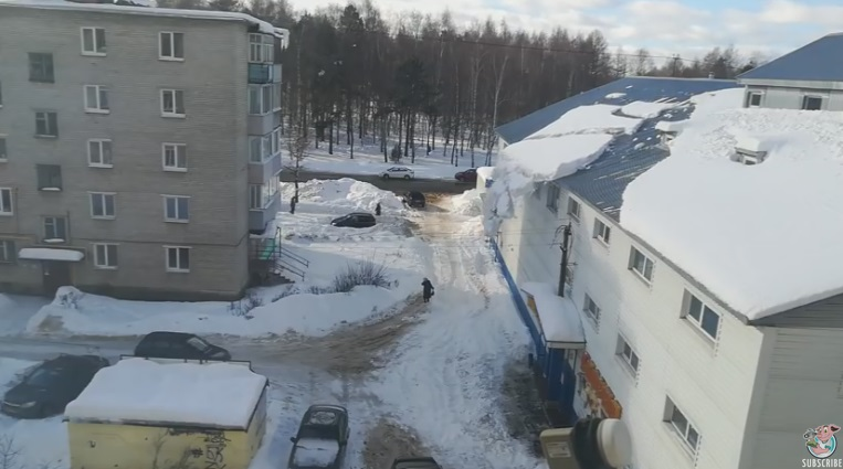 Snow Falling From Roof Pummels Woman