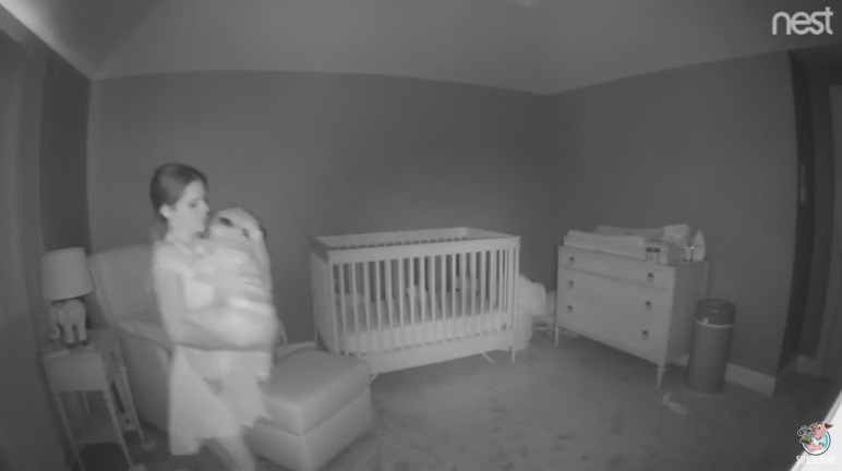 Mom Tips Over With Toddler