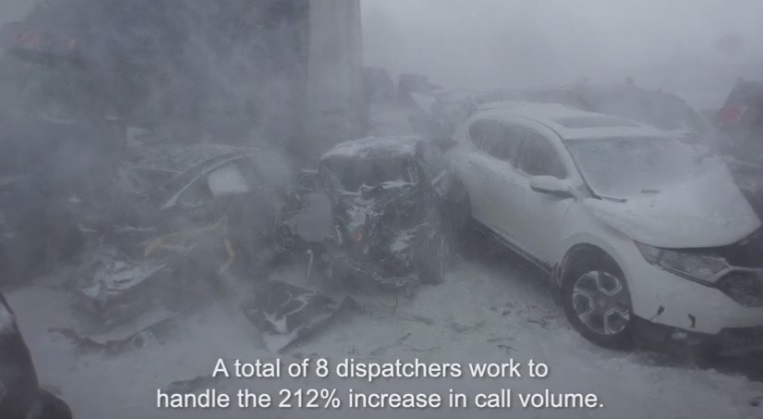 This is How 119 Cars Get Piled Up On a Highway