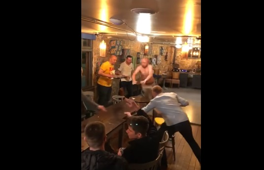 Idiot Moves Table as a Prank and Almost Kills This Guy