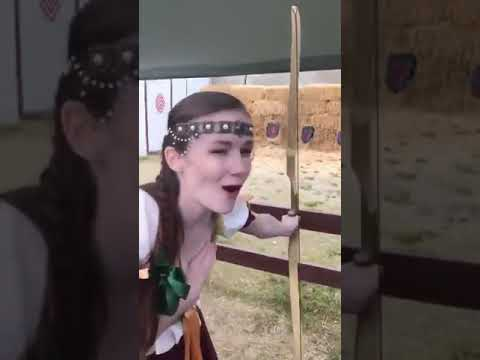 P@rn Star Emily Bloom Learns Archery The Hard Way