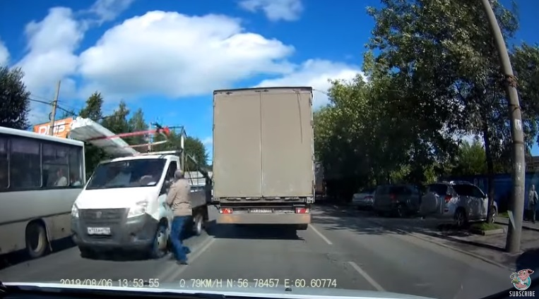 Careless Pedestrian Almost Pays the Price