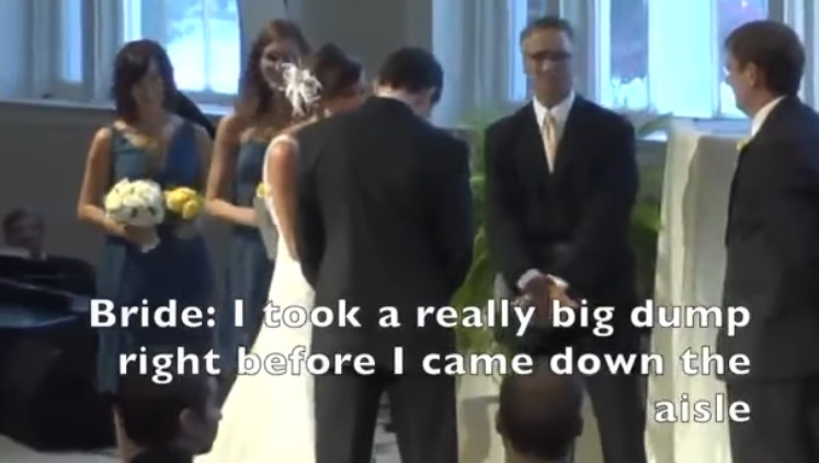 Bride Confesses On Mic At Wedding