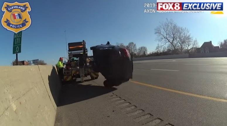 Video Shows Tow Truck Flip Car Into Oncoming Traffic With Driver Still Inside