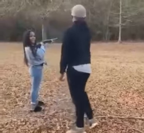 Girl Messes Up With Her First Time Trying A Shotgun