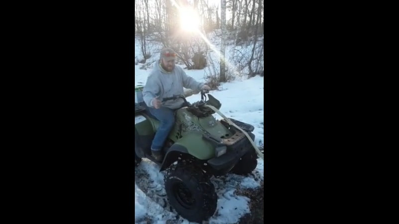 Attempt At Taking Down Tree With A Quadbike Goes Hilariously Wrong!