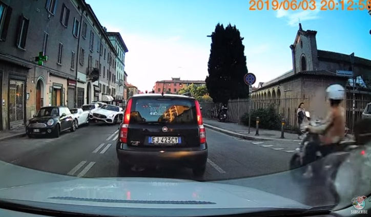Stupid Mercedes Driver Crashes Into A Parked Car