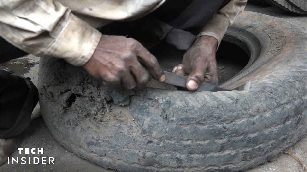Scrap Tires Getting Made Into Shoes In India!